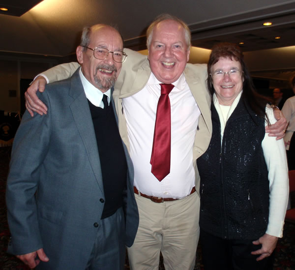 Image of Pam and Colin with their good friend Jimmy Cricket