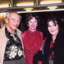 Photograph of Caroline with Cleo Laine and John Dankworth