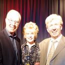 After the show with Bernie Clifton and Peter Sandeman.