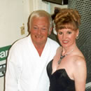 Photograph of Caroline with John Inman.
