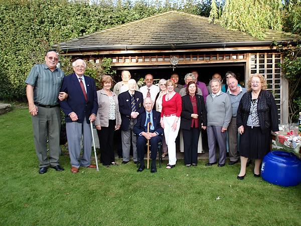Caroline with members of the Derby British Legion at home