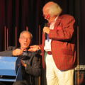 Bernie Clifton and Kenny Cantor doing the raffle
