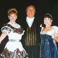 Caroline with the late Duggie Chapman and Pat Holloway